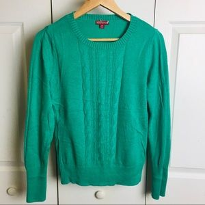 Merona crew neck cable knit sweater